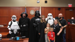 Video: Love and Star Wars unite Seminole couple with adoptive children